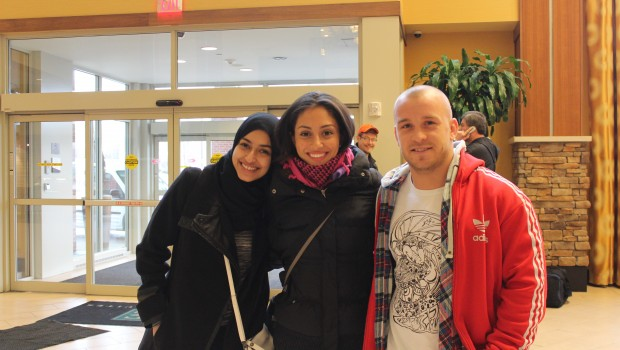 Myself, with the FAST team, Areej and Coach Kris.